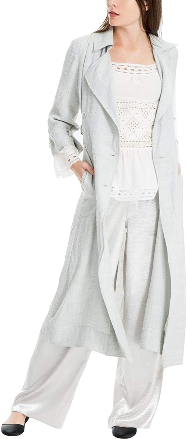 Max Studio London Womens Duster Belted Jacket