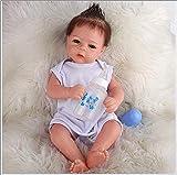 HKMA Reborn Dolls Girl Baby Doll Lifelike Full Silicone Baby Impermeable y fáciles de Limpiar Muñecas de bebé 20 Pulgadas 50 cm Cumpleaños niños y niñas