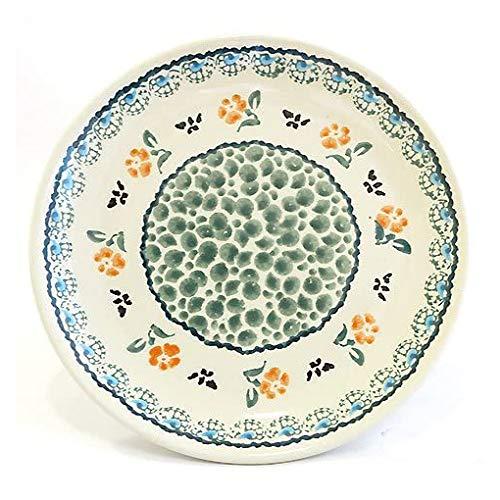 ザクワディ ボレスワヴィエツ陶器 花柄プレート