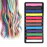 INTVN tiza de pelo color temporal del pelo, no tóxicas,Geniales para disfraces, trajes para representaciones y crear looks modernos,12 plumas de tiza coloridas