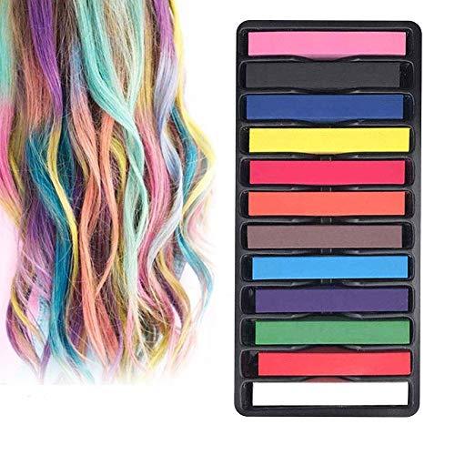 Haarkreide,INTVN Temporäre Haarfarbe,Haar Colorationen,Haarkreide kinder,Temporäre Haarfarbe Set für Kinder & Teenager- Waschbar und ungiftig - 12 Farben