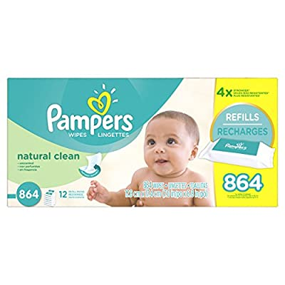 Pampers Natural Clean Wipes 12x Box with Tub