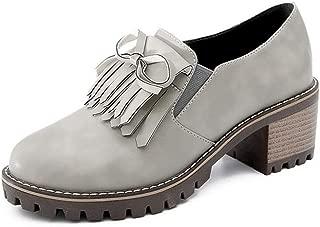 BalaMasa Womens APL12330 Pu Block Heels