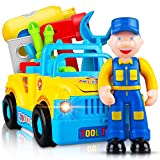 Toyshine Truck Series Tool Box Toy with Interactive Moving Parts, Music, Lights