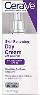 CeraVe Anti Aging Face Cream with SPF   1.76 Ounce   Anti Wrinkle Retinol Cream and Face Sunscreen   Fragrance Free