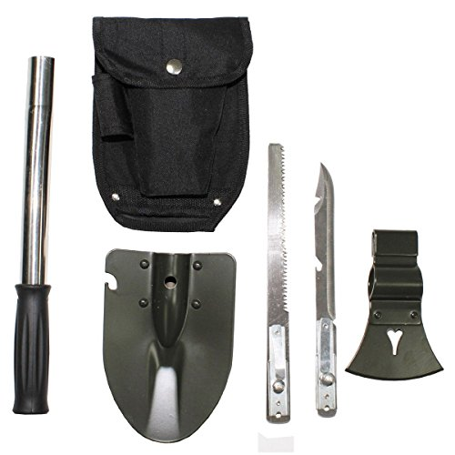 Armeeverkauf Multifunktionsset Klappspaten, Säge, Beil, Hammer, Messer, Multitool, Set 6 in 1