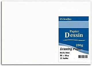 Zeichenpapier, 50 x 65 65 65 cm, 200 g m2, 25 Blatt B0091FRB7K  Spezielle Funktion 386b6e