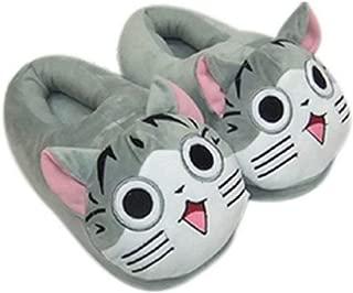 Xfounder Warm Anime Slippers Cozy Plush Indoor Cartoon Anti-Slip House Shoes Floor Slippers