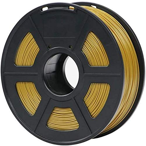 Wghz PLA Filament 1.75mm Plastic For 3D Printer 1kg/Roll 28 Colors Optional Rubber Consumables Material for Printing Color : Gold