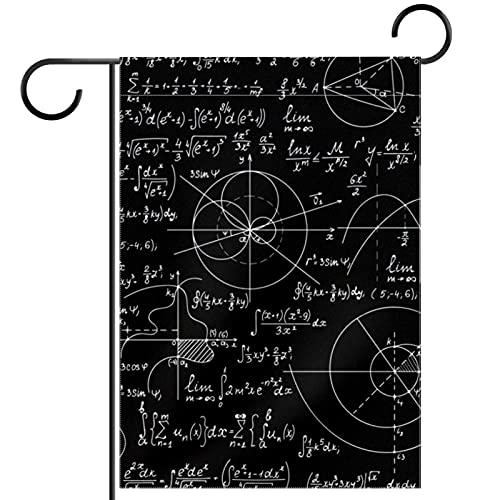 Bandiera da giardino,decorazione da giardino,ornamento da appendere all'aperto,Chimica della fisica della scienza della matematica ,per terrazzo in vaso 28x40 pollici