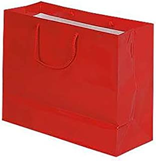 Large Glossy Red Euro Tote Shopping Bags - Case of 100