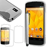 ebestStar - Coque LG Nexus 4 E960 Etui Housse Silicone Gel TPU Souple Motif S-Line +...