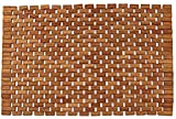"Natural Teak Foldable Mat, Teak Bath Floor Shower Mat - Solid OR Foldable - Indoor/Outdoor Anti-Slip - Hand Made Eco Friendly Premium Teak Wood - Luxury Shower Spa Mat (27.5"" x 20"" x 0.25"")"