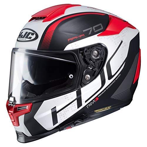 HJC Motorradhelm RPHA 70 Vias MC1SF, Schwarz/Weiß/Rot, Größe XS