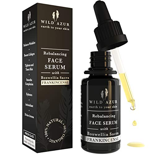 Frankincense Face Serum with Boswellia Sacra, Rosehip & Vitamin C, Organic, Anti Aging Serum for Sensitive Skin. Reduces Fine Lines & Wrinkles. Heals, Tones & Hydrates! 20ml
