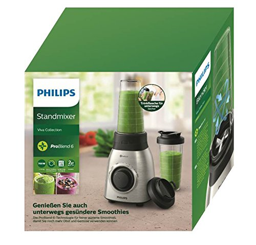 Philips Viva Collection HR3551/00 - Licuadora (0,6 L, Batidora de ...