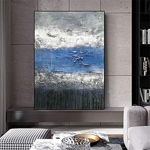 Geiqianjiumai Moderne dekorative malerei große Farbe abstrakte leinwand malerei Home wandkunst Wohnzimmer malerei rahmenlose malerei 75X120 cm