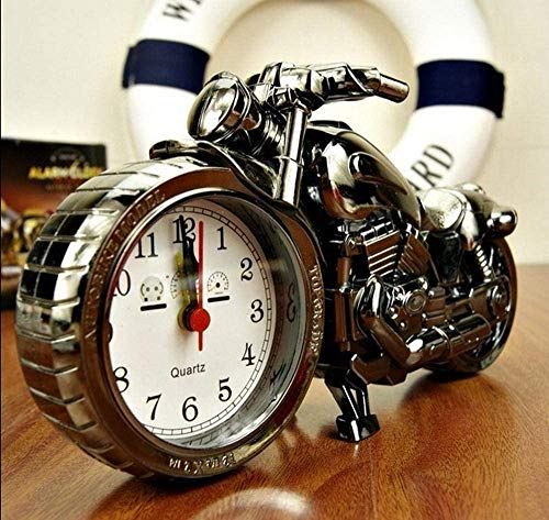Gaojian Kreative Motorrad Mantel-Uhren, Ride Clock Kleine Ornamente Schlafzimmerstudien Ornamente