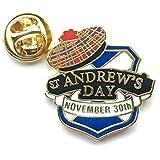"""Spilla, tema scozzese, con scritta in lingua inglese: 'St Andrew's day"""""""