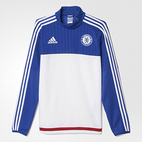 adidas Herren FC Chelsea Trainingsoberteil - weiß Sweatshirt, White/Cheblu/Powred, XS