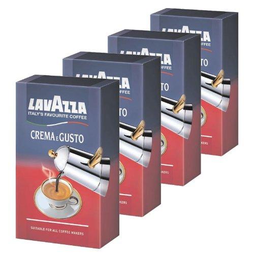 Lavazza Coffee Crema E Gusto, ground, Pack of 4, 4 x 250g