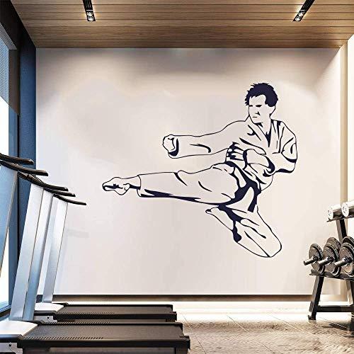 Home Decals Karate Kick Kampfkunst Vinyl Wandaufkleber Sportraum Dekoration Kleber Decals Kunst Carving Decals Wandbilder 85X42Cm