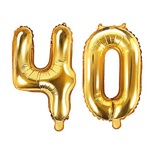 XXL folieballon/getal 40 in goud/verjaardagsballon voor de 40e Verjaardag/jaar cijfer/Leeftijd/Decoratie Decoratie Veenjaarsdag/Voljarig