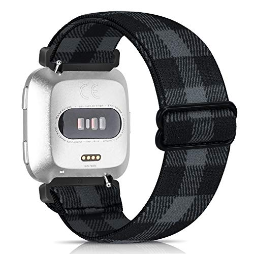 Zoholl - Braccialetti elastici compatibili con Versa/Versa 2/Versa Lite, 23 mm, compatibili con braccialetti di ricambio, bellissimi braccialetti elastici con motivi stampati per uomini e donne