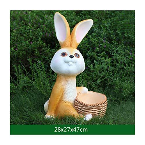 JSZMD Linda de la Historieta del Conejo de Conejito del Paisaje del jardín Kinder Decoración Animal (Color : E)