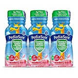 PediaSure Grow & Gain With Fiber, Kids' Nutritional Shake, With Protein, DHA, And Vitamins & Minerals, Strawberry, 8 fl oz, 6-Count