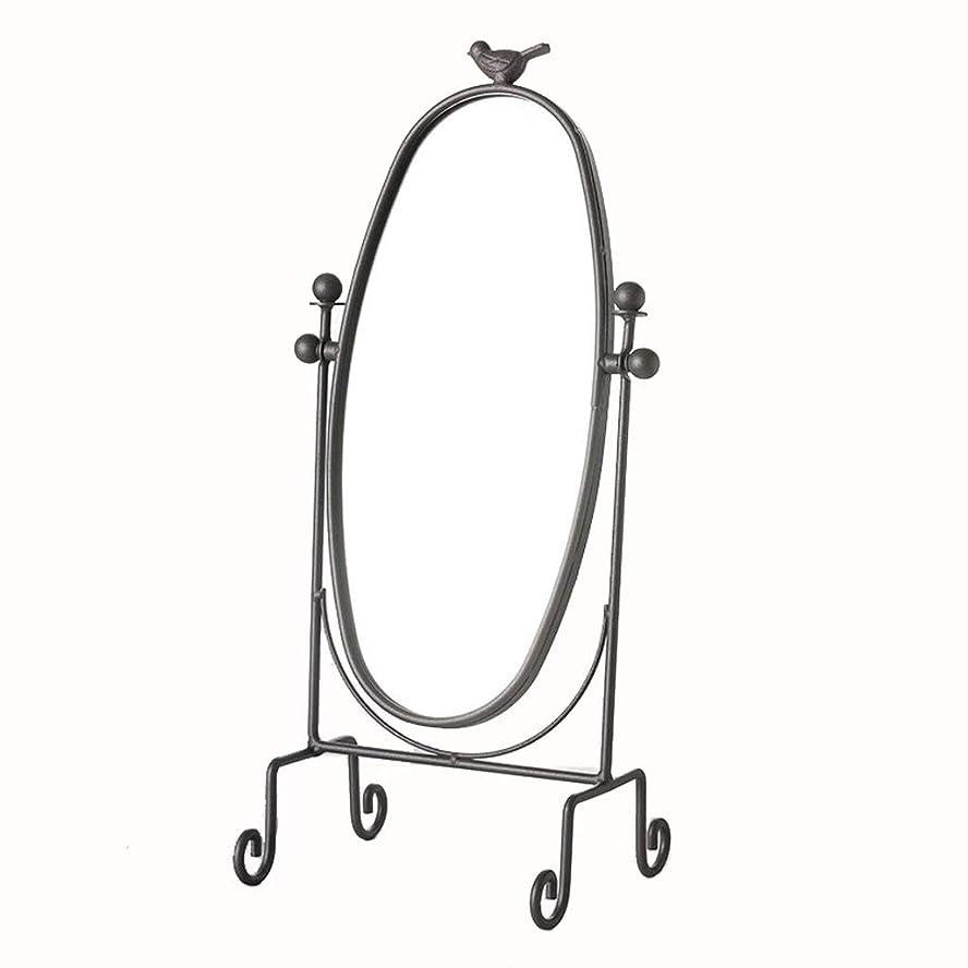 デッド寂しい無視Selm デスクトップ片面化粧鏡ヨーロッパ高精細化粧台ミラーポータブルプリンセスミラーシンプルなファッションミラー (Color : Black)
