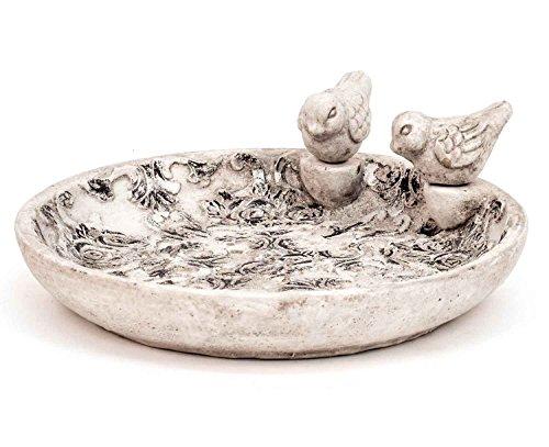 Dekorative Vogeltränke Zement grau D 24 cm Tränke für Vögel Vogelbecken Vogelbad