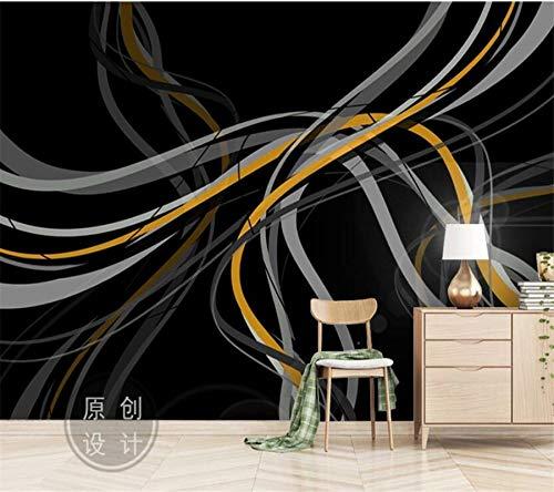 WOONN - Gran mural de pared de líneas abstractas y minimalistas nórdicas, 360CM*229CM