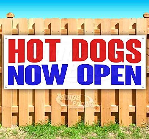 Hot メーカー直売 爆安 Dogs Now Open 13 oz Banner Vinyl Heavy-Duty S Non-Fabric