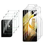GESMA 3 Pezzi Morbido TPU Pellicola Compatibile con Samsung Galaxy S21 Ultra, 3 Pezzi Vetro Temperato Protezione Lente Pellicola Posteriore, HD AntiGraffio