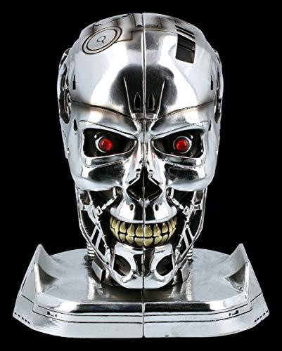 Fantasy Buchstützen - T-800 Terminator 2 | Deko-Artikel, Deko-Figur, inkl. Geschenkverpackung, H 18 cm