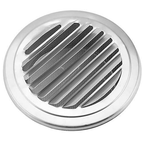 Rejilla de ventilación Aigid - Rejilla de ventilación de aire plana redonda de acero inoxidable de 120 mm de diámetro, cubierta de metal, conductos circulares, extractores de ventilación, rejilla para