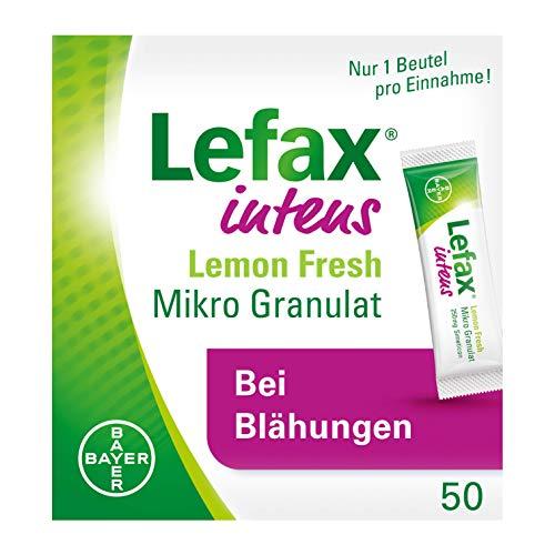 Lefax Intens Lemon Fresh Mikro Granulat bei stärkeren Blähungen und weiteren gasbedingten Beschwerden wie Druck- und Völlegefühl, krampfartigen Bauchschmerzen, ideal für unterwegs, 50 Beutel