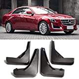 XIANGBAO QI Mud Flaps 4pcs Coches Auto Set Guardabarros Guardabarros Guardabarros Delantero y Trasero for Mudflaps Cadillac CTS 2014-2018 2015 2016 2017