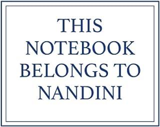 This Notebook Belongs to Nandini