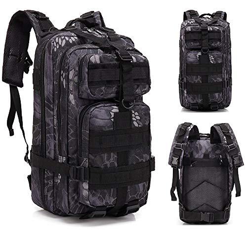 Umitvaz Zaino Tattico Militare 30L, Assault Backpack Zaini 3 Day dell'Esercito Zaino per Caccia, Molle da Zaino Unisex, Trekking e Campeggio e attività All'aperto (43 x 25 x 23cm, MWH6)