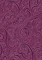 igsticker ポスター ウォールステッカー シール式ステッカー 飾り 1030×1456㎜ B0 写真 フォト 壁 インテリア おしゃれ 剥がせる wall sticker poster 000522 その他 紫 模様