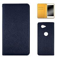 WHITENUTS Huawei nova CAN-L12 ケース 手帳型 ベルト無 2トーン ネイビー×イエロー TC-D0106579/MX