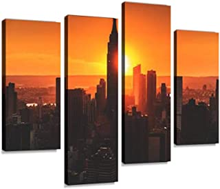 Skyscrapers Megapolis Canvas Wall Art Design POSTER or CANVAS READY to Hang. Poster Print D\u00e9cor for Home /& Office Decoration