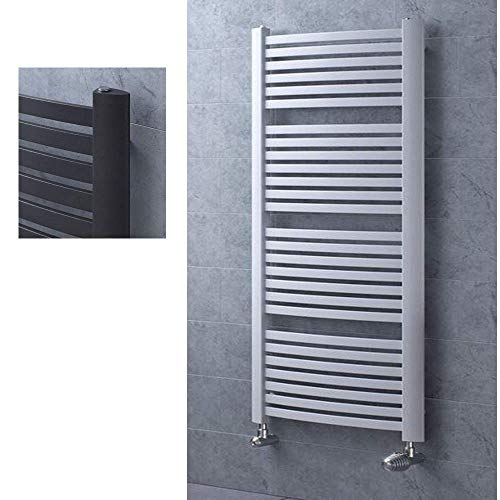 Design Badheizkörper Luina - Handtuchheizkörper Radiator Badwärmer RAL9003 Heizkörper (H 1395 mm x B 580 mm)