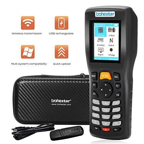 Trohestar Nuberopa N5 Wireless Barcode Scanner 1D/2D/QR/PDF417 Bar Code Reader Handheld Inventory Counter Data Collector (Rechargeable) barcode handheld scanner