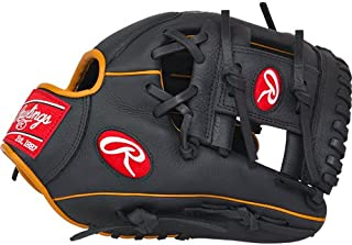 Rawlings Gamer Gloves with Pro I Web, Left Hand, Black, 11.25