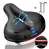 Gincleey Comfort Bike Seat for Women Men,Wide Bicycle Saddle Replacement Memory Foam Padded Soft...