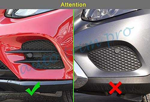 Chrome Front Rear Fog Light Lamp Cover Trim Fit For Mercedes For Benz Glc X253 2016 2017 2018 Accessories Fogligh Decoration Parts (Compare The Picture)