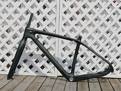 Telaio in fibra di carbonio lucido 3K 29er Mountain Bike 19 pollici (per BB30) MTB telaio 135 mm x 9 mm QR e 142 mm x 12 mm Thru Axle compatibile carbonio forcella della bicicletta 29 pollici
